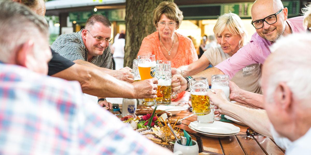 Biergarten im Wirtshaus Tannengarten München Sendling